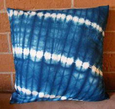 Handsewn Blue and White TieDye Cotton 18 Inch by TrebleThreads, $11.00
