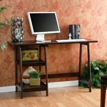 This uniquely designed A-frame desk is the perfect solution to create a working area in a smaller space. The desk features sturdy shelves and the legs are constructed from durable hardwood. Furnishings, Furniture Deals, Home Furniture, Frame Desk, Living Room Office, Home Decor, Stylish Writing Desks, Furniture, Home Goods