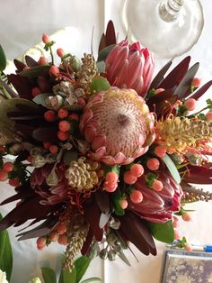 Australian natives wedding bouquet