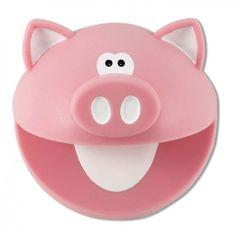 Pegador de Panelas Silicone linha Piggy                    Planeta Mimos - www.planetamimos.com.br