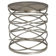 Spring Side Table – Silver