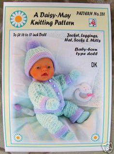 Baby Born knitting pattern.