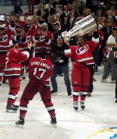 I know this will sound crazy, but I am a huge fan of the Hurricanes. I am not a bandwagon jumper after their Cup win in '06 (I was at game 7 to watch them hoist the cup), I grew up watching the Whalers in Hartford and when they made the move to Carolina I just continued to follow the organization, and they were the first NHL team with cheerleaders, just sayin'... #Hurricaneseason #bringbackthewhale