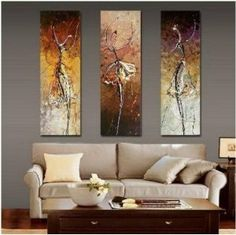 Dancers Abstract Painting Decoration Unstretch