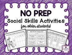 No Prep Social Skill