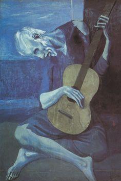 Venus Rex: No. 55 Picasso en Azul. El guitarrista viejo.