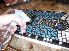 Grouting a Mosaic Tutorial
