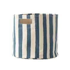 Stripe Storage Bin in Sailor - perfect storage + decor in a nautical nursery!