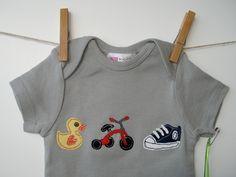 Baby Swim - Bike - Run Triathalon Applique Onesie. $25.00, via Etsy.