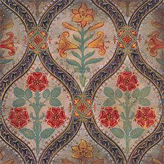 Pugin block print - hand made wallpaper by Cole & Son