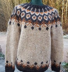 Mens Knit Sweater, Nordic Sweater, Icelandic Sweaters, Fair Isle Knitting, Girls Sweaters, Handicraft, Knitwear, Knitting Patterns, Knit Crochet