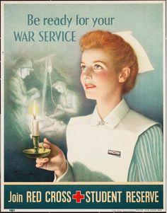 nurse by liabrewer. Nice Red Cross ad, Marcie Fleischman