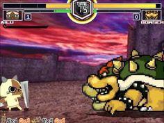 MUGEN無限格鬥 アイルー VS クッパ【Watch Mode】艾路VS庫巴【觀戰模式】