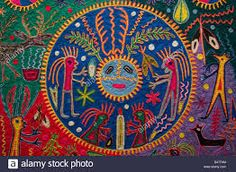 Image result for huichol yarn painting Yarn Painting, Quiche, Maya, Mystery, Objects, Tapestry, Rugs, Mysterious, Bright