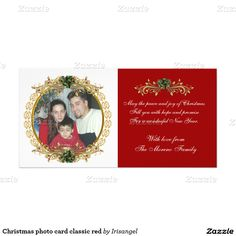 Christmas photo card classic red
