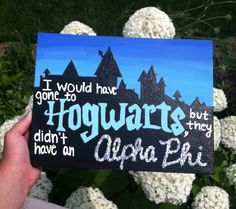 Harry Potter Sorority Hogwarts Painting on Canvas by AndreaMariaNelson on Etsy https://www.etsy.com/listing/461119534/harry-potter-sorority-hogwarts-painting