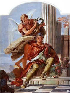 Virtue crowning honor. 1734. fresco. Giovanni Battista Tiepolo.    Italian. 1696-1770
