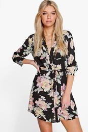 Savannah Floral Shirt Dress