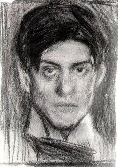 Picasso Self Portrait.  Creepy cool.