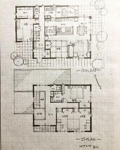 いいね!544件、コメント10件 ― 石川 元洋/一級建築士、インテリアコーディネーターさん(@motohiro_ishikawa)のInstagramアカウント: 「・ 42坪の5人家族の家2…」 Japanese Architecture, Architecture Plan, Architecture Details, Small House Plans, House Floor Plans, Traditional Japanese House, Villa Plan, Plan Sketch, Interior Sketch