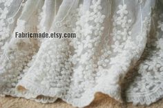 Blessing dress fabric?  White Wedding Fabric French Lace Fabric Bridal by fabricmade, $11.60