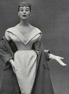 Premiers points L'Officiel #371, 1953 Photographer: Philippe Pottier Christian Dior, Spring 1953 Couture