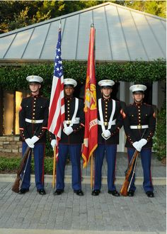 Marine Corps Color Guard from Kings Bay Naval Base