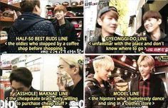 Exo shopping... hahhaha very right. but i always stop for coffee before shopping :3 lol