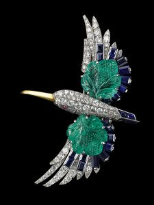 Broche-pince Martin-pêcheur, 1941, Collection Cartier