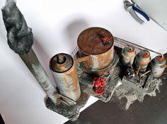 Tableto Gelände 40k, Warhammer 40.000, Infinity, Gebäude, Ruine, Raffinerie | eBay