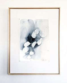 Inspired by my small garden and the vines that creep quietly and steadily  around buildings and porches; this watercolor painting captures the  peacefulness of nature and the gentleness it can bring into our lives.   Painted in monochromatic grays and blue shades, this painting is both  minima