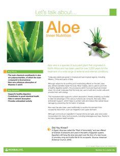 Aloe Fact Sheet www.goherbalife.com/brookemaske