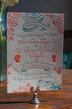 Sneak Peek: Hope & Jonathan | Lucky Luxe Couture Correspondence | Letterpress Wedding Stationery