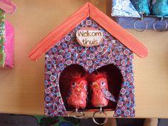 een vogelkastje voor papa's sleutels. vaderdagcadeau 2014