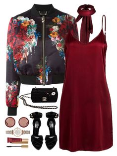 """""""Oxblood"""" by oh-aurora ❤ liked on Polyvore featuring Philipp Plein, Alexander McQueen, Chanel, Yves Saint Laurent, Emporio Armani and The Row"""