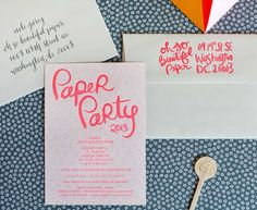 Paper Party 2013: The Invitations!