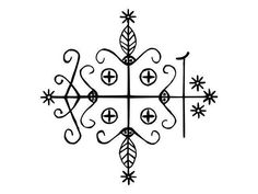 Papa Legba - I believe I connected with him before I ever knew his name.  http://altreligion.about.com/od/symbols/ig/Vodoun-Veves/Legba.htm
