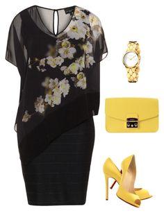 """vestido preto plus size"" by anamaria-64 on Polyvore featuring Christian Louboutin, Furla and Calvin Klein"