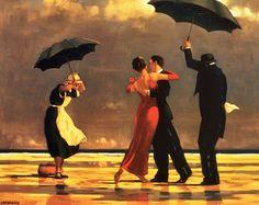 Jack Vettriano (Kirkcaldy (Schotland), 1951) is een Brits beeldend kunstenaar. Hij werd in 1951 geboren in Kirkcaldy Schotland. Hij groeide daar op tot hij op zijn zestiende van school ging om in d…