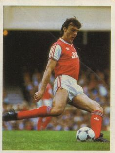 David O'Leary (Arsenal) - Republic Of Ireland centre half, the longest serving player at Highbury. Joined straight from school thirteen years ago and a first team regular since 1975.