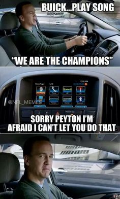 That's the Seahawks theme song Peyton...AGAIN!!! Bahahaha ;)