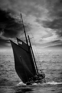 """""""We're adrift on a sailboat, my love is the sea..."""""""