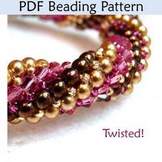 """Twisted Tubular Herringbone """"Twisted!"""" PDF Beading Pattern"""