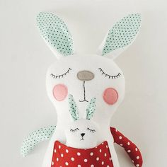 A nice bunny with baby is an ideal project for beginners and for children's craft! Soft and cosy bunny can become a good child's friend! Instant download! THIS LISTING IS FOR SEWING PATTERNS PDF, NOT THE FINISHED PRODUCTS and please note that this is a non-refundable item! Dimensions: