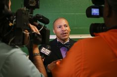 JPS Superintendent, Dr. Cedrick Gray speaks to local media about the JSU-Blackburn wireless initiative.