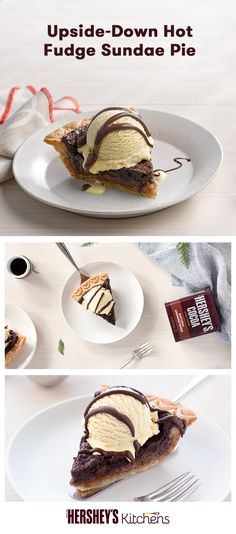 Who says you can't have ice cream in the fall and winter? This Upside-Down Sundae Pie is a treat for the whole family. Made with HERSHEY'S Cocoa and all the essentials for a festive sundae, like bananas and whipped cream. It also makes a perfect alternative to a classic pumpkin or apple pie for Thanksgiving or Friendsgiving!