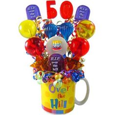 Over The Hill Birthday Lollipop Bouquet Gift Delivery 50th Gag Gifts Online
