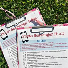 Are you looking for a fun party game for tweens that would be perfect at kids birthday parties? Here's a fun photo scavenger hunt for kids that is perfect for tweens and can take place in your own backyard or at a nearby park! My kids had such a blast doi Tween Party Games, Birthday Party Games For Kids, 13th Birthday Parties, Party Activities, Birthday Party Themes, Birthday Recipes, Birthday Kids, Indoor Activities, Summer Party Games