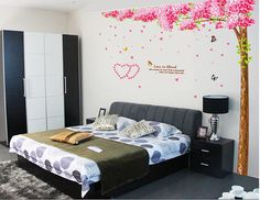 Pink Cherry Blossom Tree Wall Decal-Large by new2015fashionshop