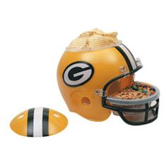 Green Bay Packers Snack Helmet  http://www.fansedge.com/Green-Bay-Packers-Snack-Helmet-_-1868264022_PD.html?social=pinterest_pfid44-28890
